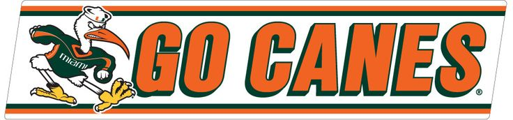 "Miami Hurricanes 10"" Go Canes Decal"