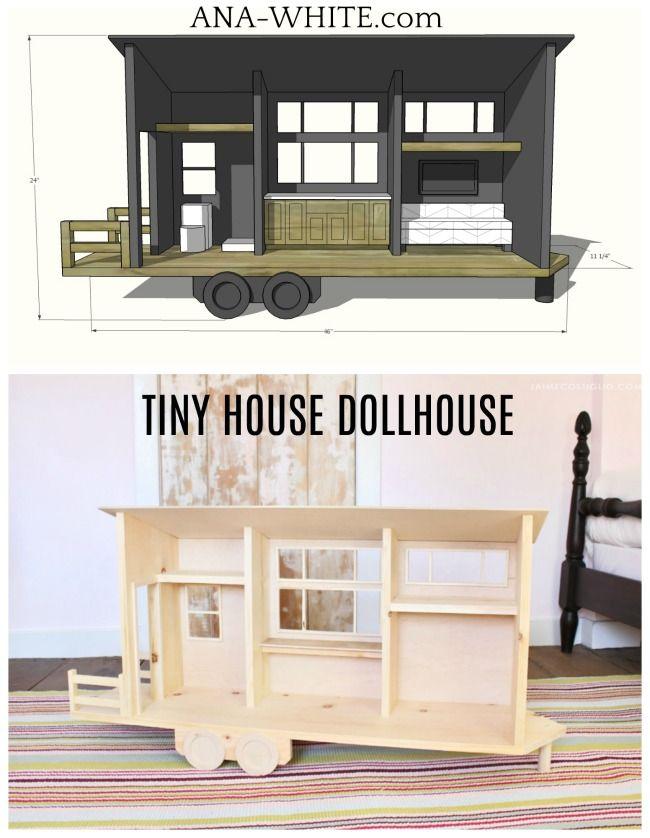 Tiny House Dollhouse For Barbies Or 12 Dolls Box Houses