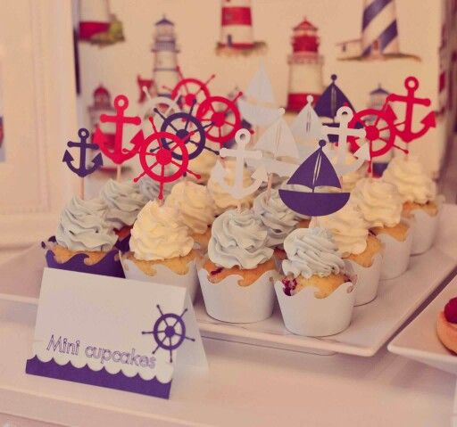 Nautical theme candy bar - Boheme delices francaises