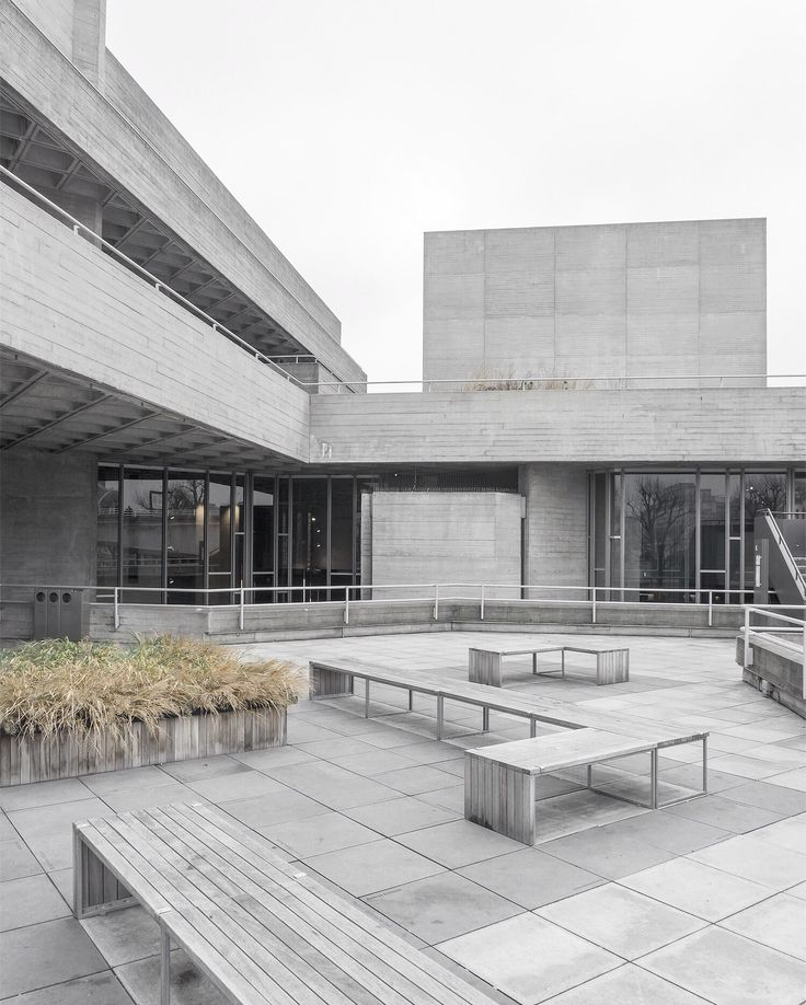National Royal theater, architectural photography by Minorstep. Brutalism and concrete