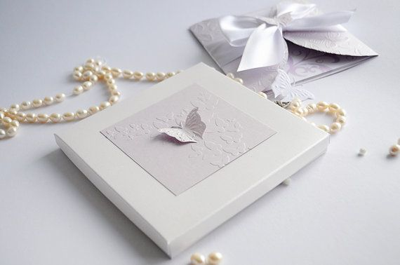 Lilac and Pearl White Butterfly Baptism by InvitatiiCouture