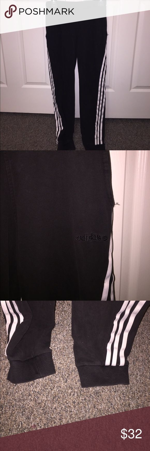 Men's Adidas Slim Fit Cuffed Joggers 9/10 condition, small bleach stain on bottom right pant leg. adidas Pants Sweatpants & Joggers