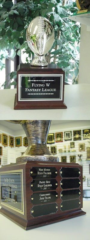 Other Football 2024: Fantasy Football Perpetual Trophy 16 Years Silver New! -> BUY IT NOW ONLY: $69.1 on eBay!