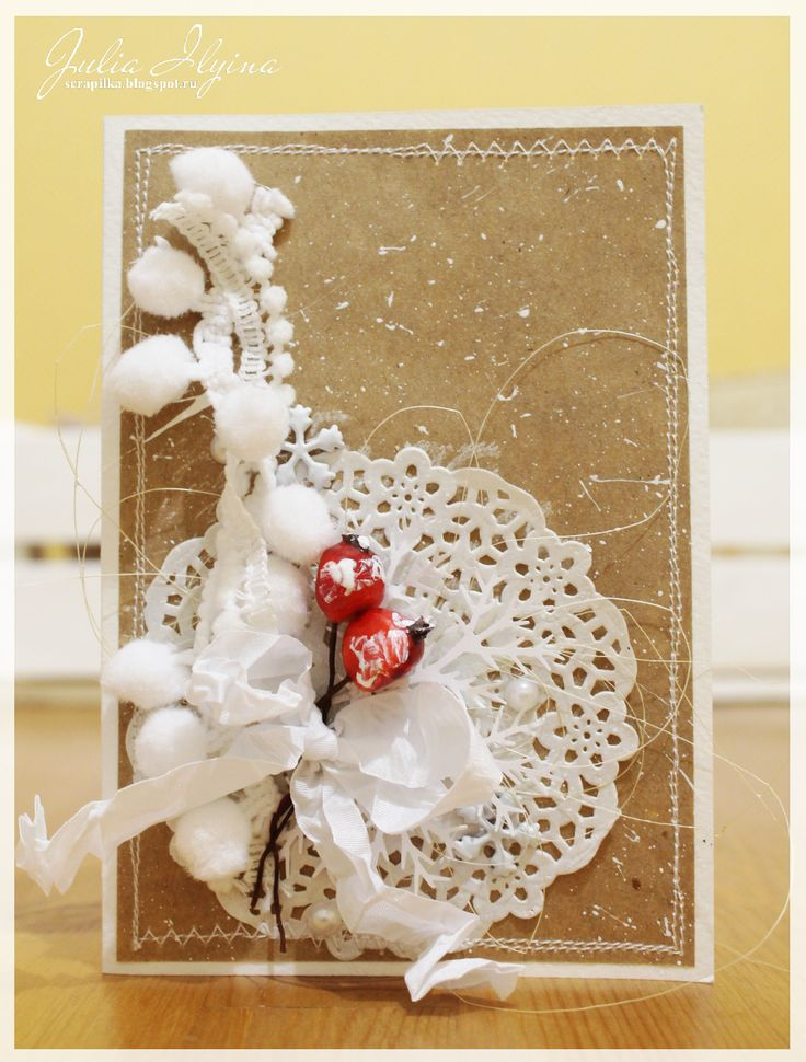 card, new year, winter, hand made, craft