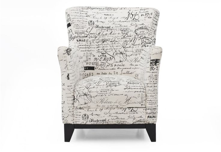 Scripture Fabric Accent Chair | Super Amart
