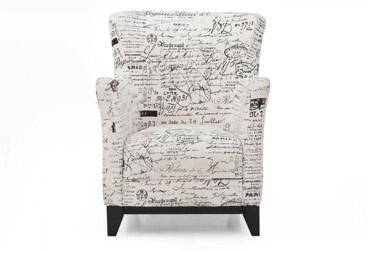 Scripture Fabric Accent Chair | Super Amart