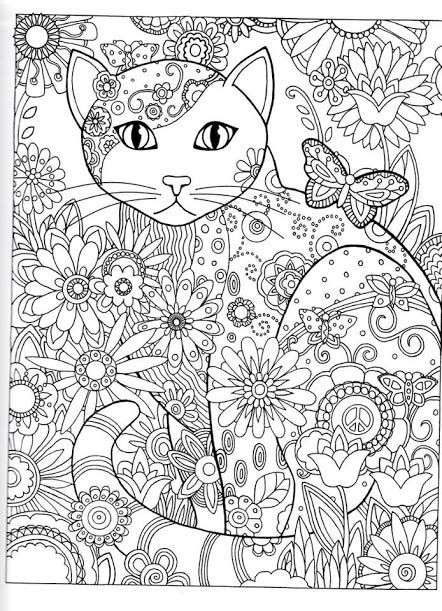 Coloriage A Imprimer Un Chat.Coloriage Adulte A Imprimer Chat
