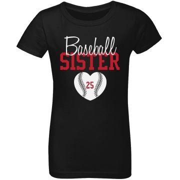 Baseball Sister - enter # heart