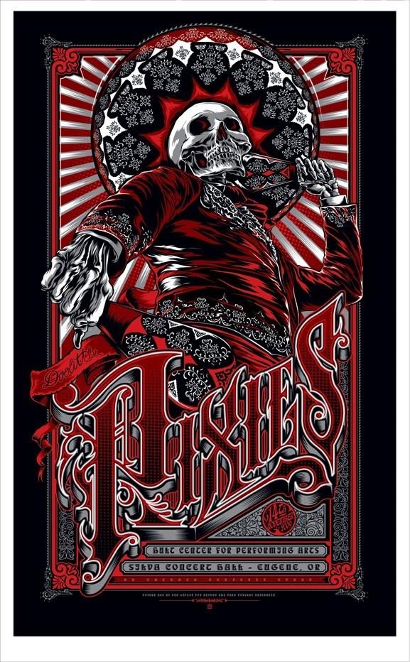 Pixies Silkscreen Concert Poster By Ten Taylor