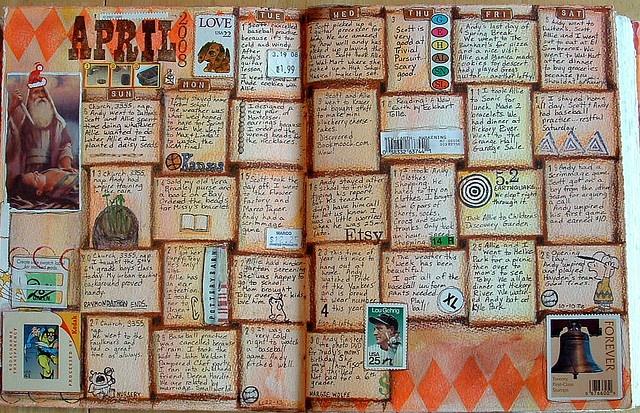 Basket-weave calendar page!