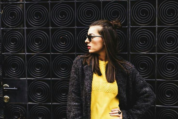 Fashion Blogger  www.ramonacervenciuc.ro  #yellow #grey