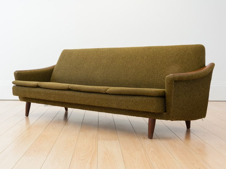 Mid Century Olive Green Norwegian 4 Seater Sofabed 1960s