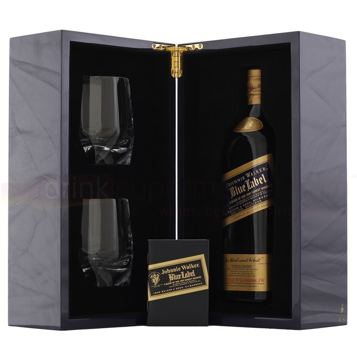 Johnnie Walker Blue Label Whisky 70cl Gift Set With