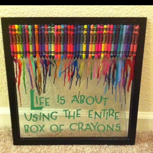 I need to try this!: Quotes, Color, Gift Ideas, Melted Crayons, Crayons Art, Corner Ideas, Craft Ideas, Art Projects, Crayon Art