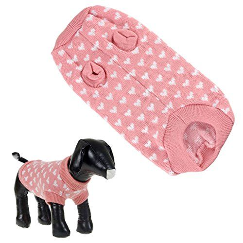 Puppy ClothesHaoricu Cute Dog Cat Pet Clothes Vest Hoodies Costume Apparel Pink Dog Sweater Lovely (2XL) (XL)
