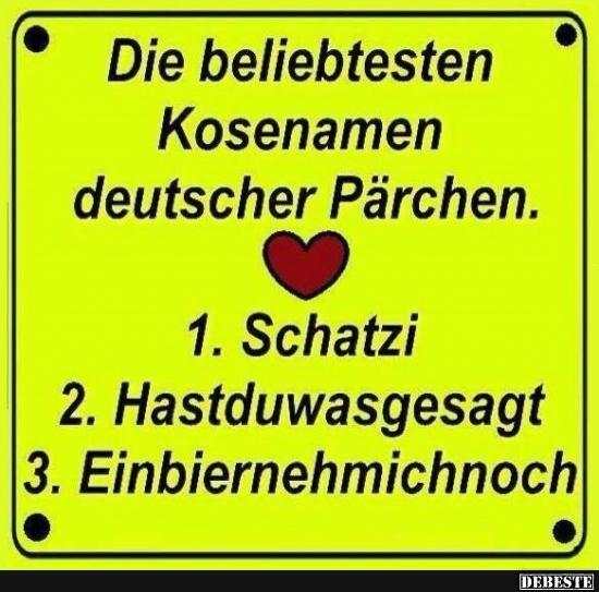Die beliebtesteb Kosenamen deutscher Pärchen..