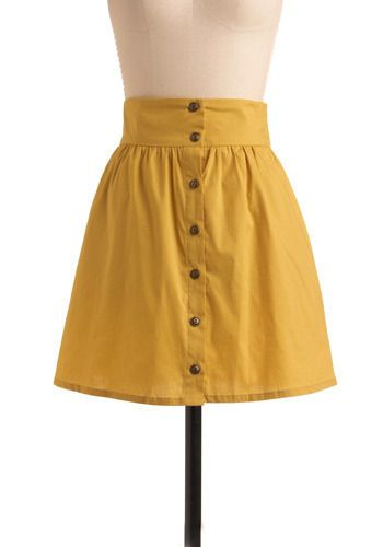 yellow skirt - tried to buy this on modcloth, a little too pricey.