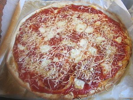 Pizza blanc de poulet/fromage/chorizo