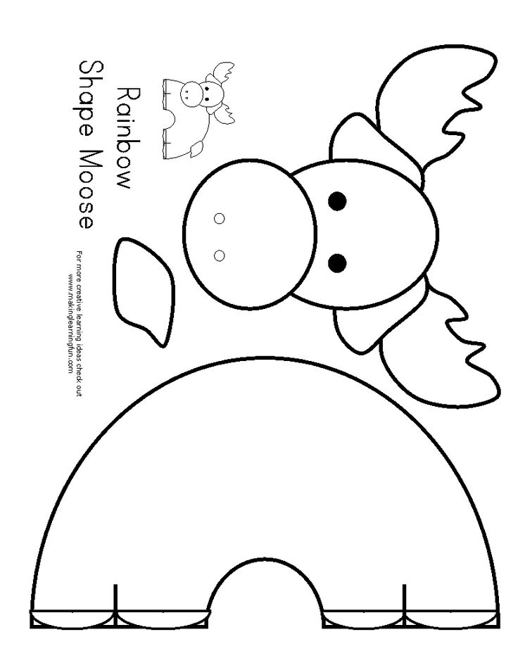camp moose on the loose coloring pages | moose template | Crafts - Template Patterns | Pinterest