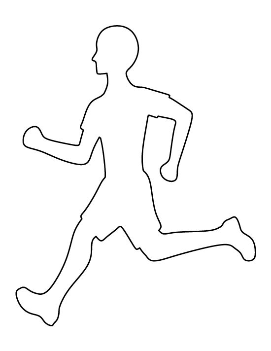 Runner pattern. Use the printable outline for crafts, creating stencils, scrapbooking, and more. Free PDF template to download and print at http://patternuniverse.com/download/runner-pattern/