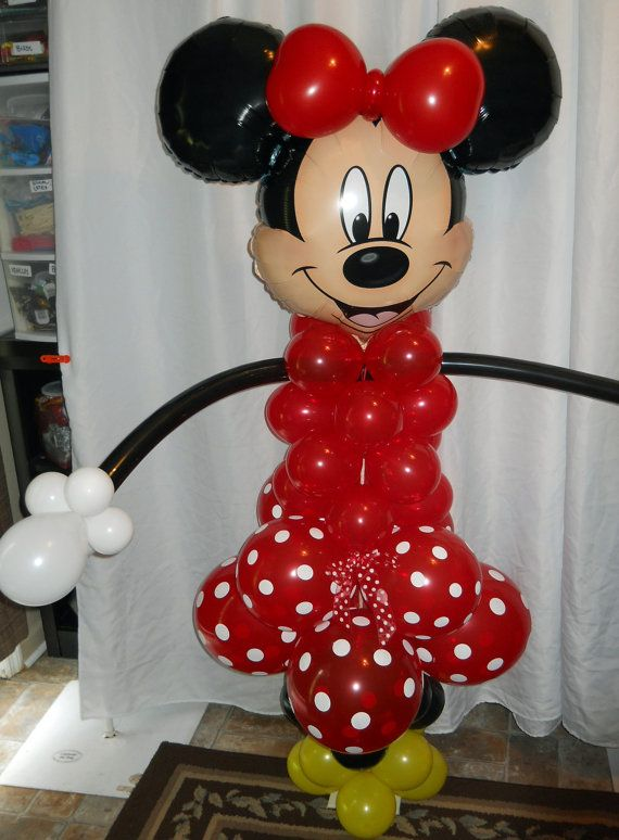 Red Minnie and Mickey Mouse balloon Column Kit for party decorations