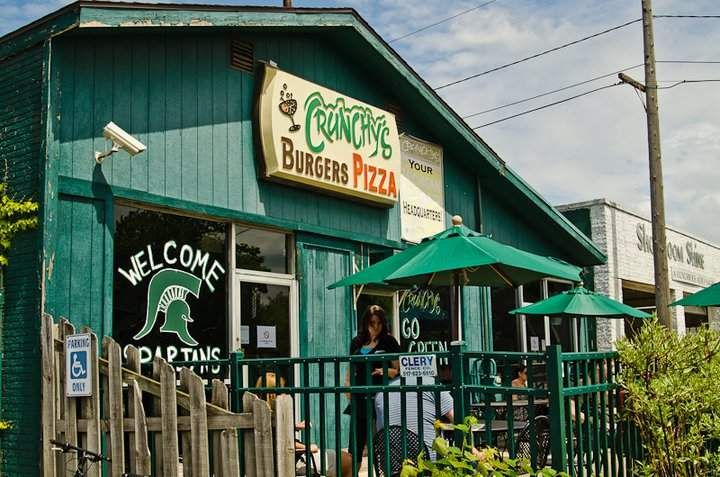 Crunchy's Bar in East Lansing, Michigan - With its great burgers, karaoke, giant pizzas and rowdy crowd, Crunchy's would be a perfect bar on its own; but it also has one of the area's most diverse tap selections and lineups of craft beer.