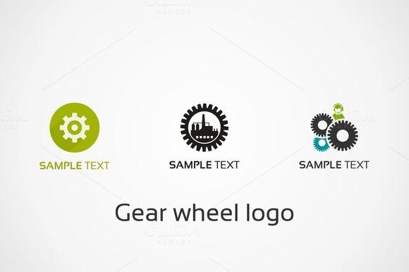 Gear wheel logo by Vector on @creativemarket