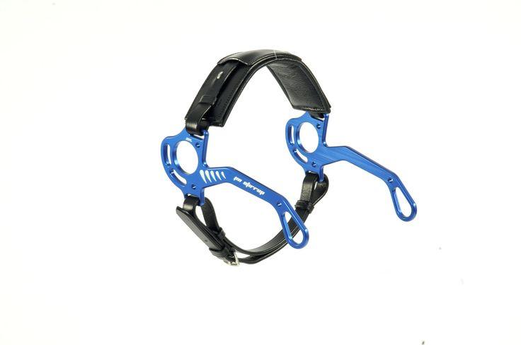 Hackamore skórzane niebieskie krótkie czanki - JIN STIRRUP #jinstirrup