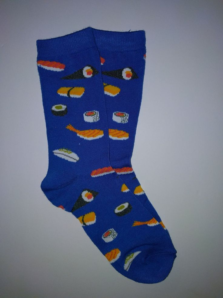 Sushi Blue Crew Socks