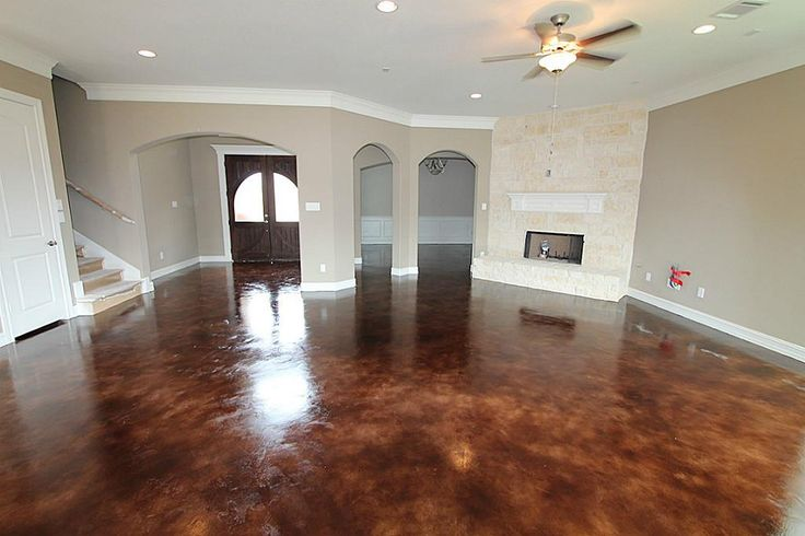Stained Concrete Floors In Coca Cola The Color Is A