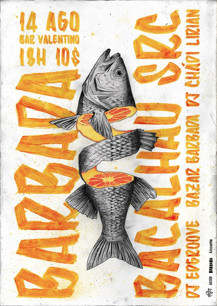 BARBADA is an event that happens in Brazil. It's focused on contemporary music and features performances by local and national bands and DJs. Both the event and the design of the posters intend to carry the rich brazilian culture. www.facebook.com/festabarbada