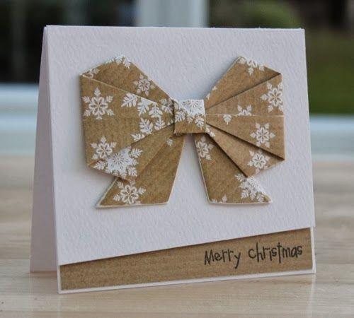 Une magnifique carte avec un nœud en origami à tomber !