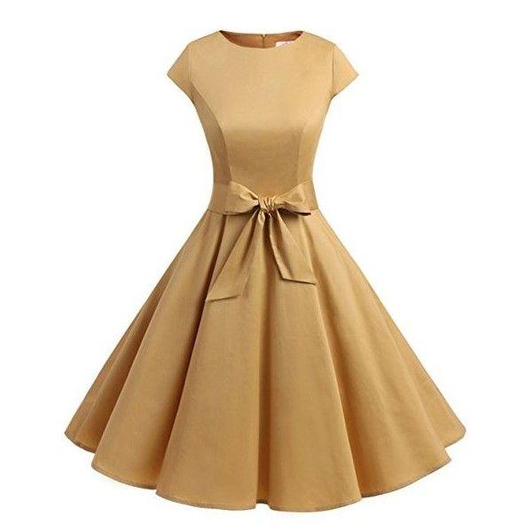 Yellow polka dot prom dress