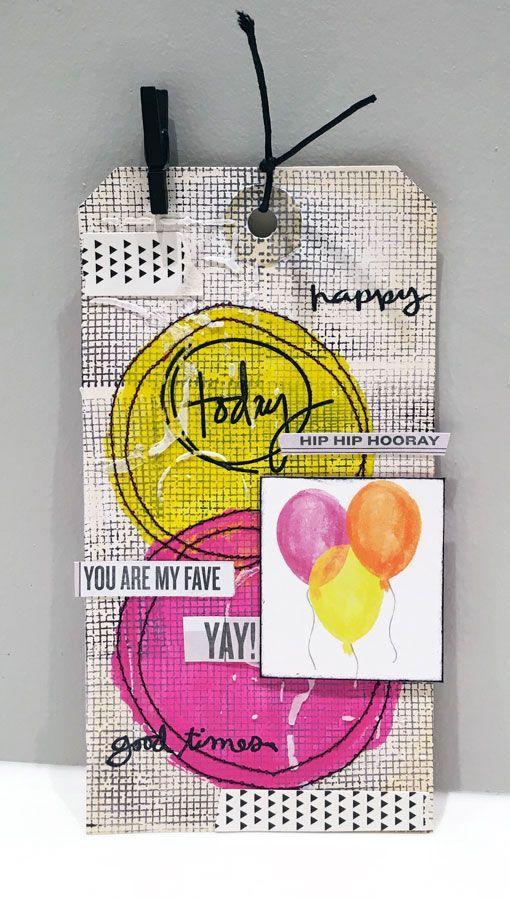 Colourful tag