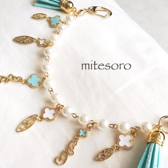 Resale ♡ oriental bag charm ♡ 2-color Alhambra ♡ mint tassel
