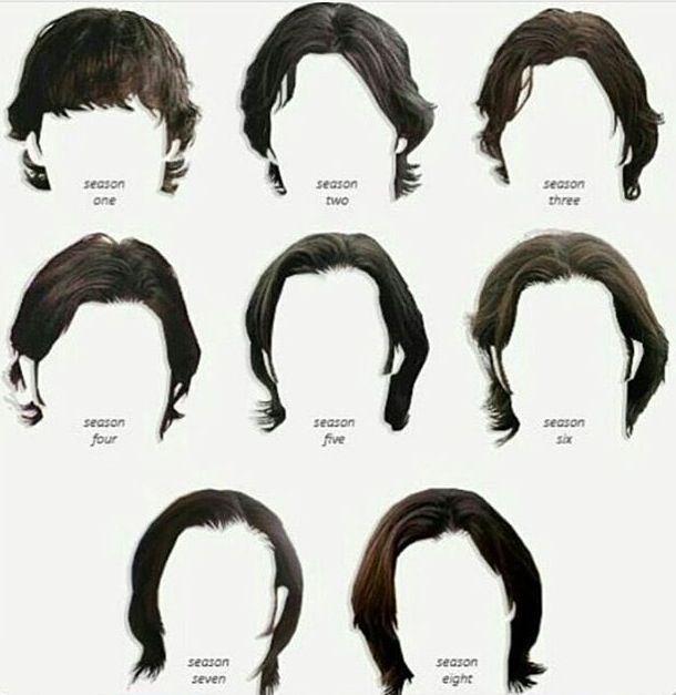 Evolution of Sam Winchester's Hair