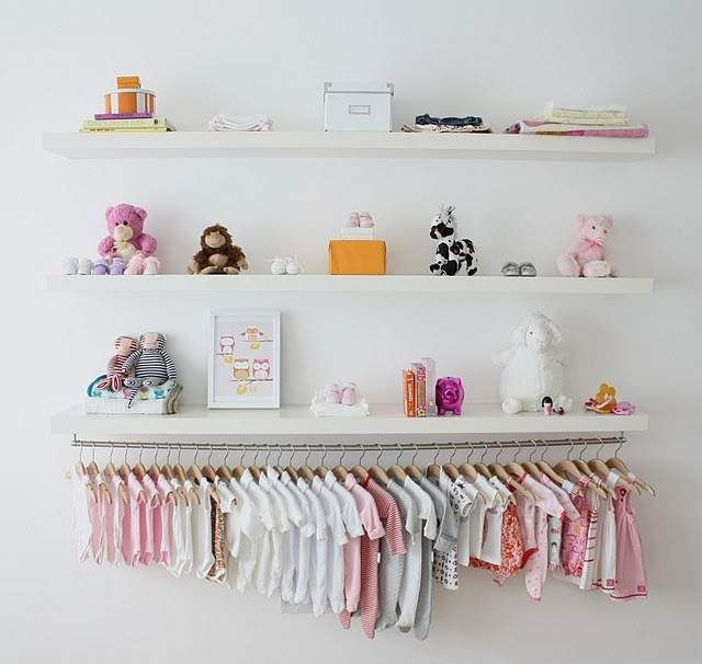 How To Organize Baby Clothes Without A Closet 12 Brilliant Ways Baby Room Shelves Clothes Storage Without A Closet Baby Clothes Organization