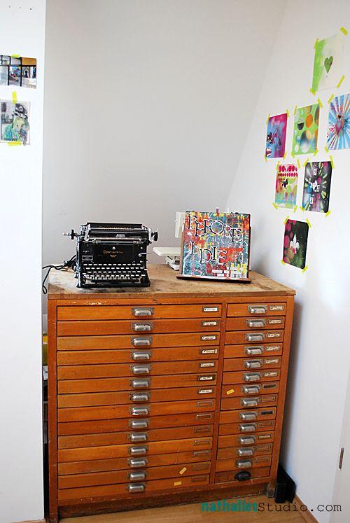 Nathalie Kalbach: studio organization  Nice map drawers