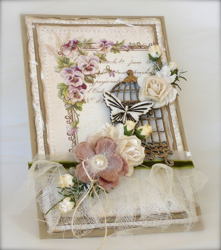 Card made with papers from Pion