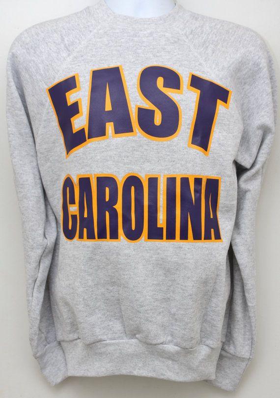 EAST CAROLINA Pirates ECU Sweatshirt Sz by StandoutVintageStore, $54.00