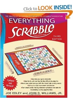 I saw this book in Cracker Barrel's gift shop's clearance section for 70 percent off. I couldn't resist the bargain! Very cool book for Scrabble lovers.