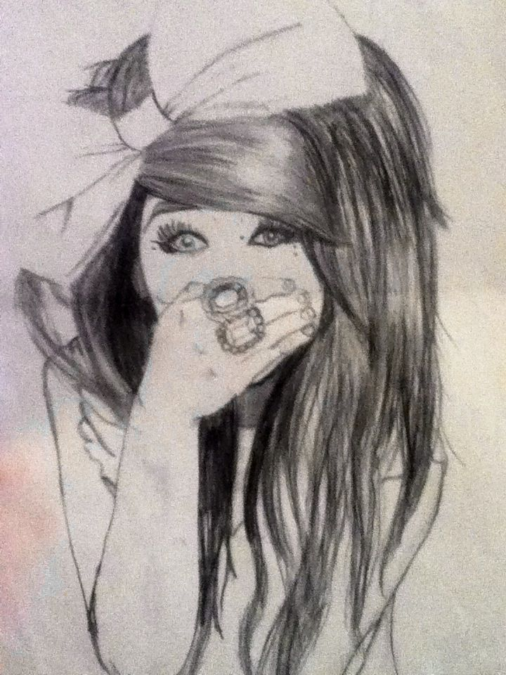 17 best images about girls drawings on pinterest hair for Beautiful drawings for girls