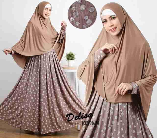 Baju Muslim Jumbo B107 Delisa Syar'i Cantik - http://bajumuslimbaru.com/baju-muslim-jumbo-b107-delisa-syari #BajuMuslimJersey, #BajuMuslimMurah, #JualBajuMuslim
