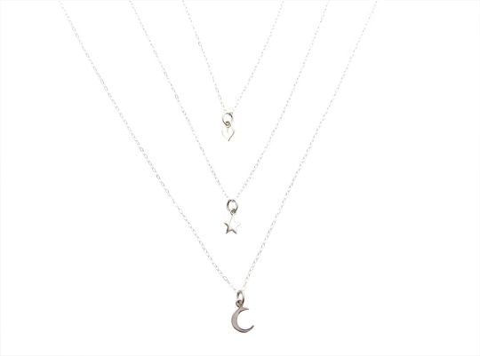 Mini Ster ketting zilver   InTu jewelry design with meaning