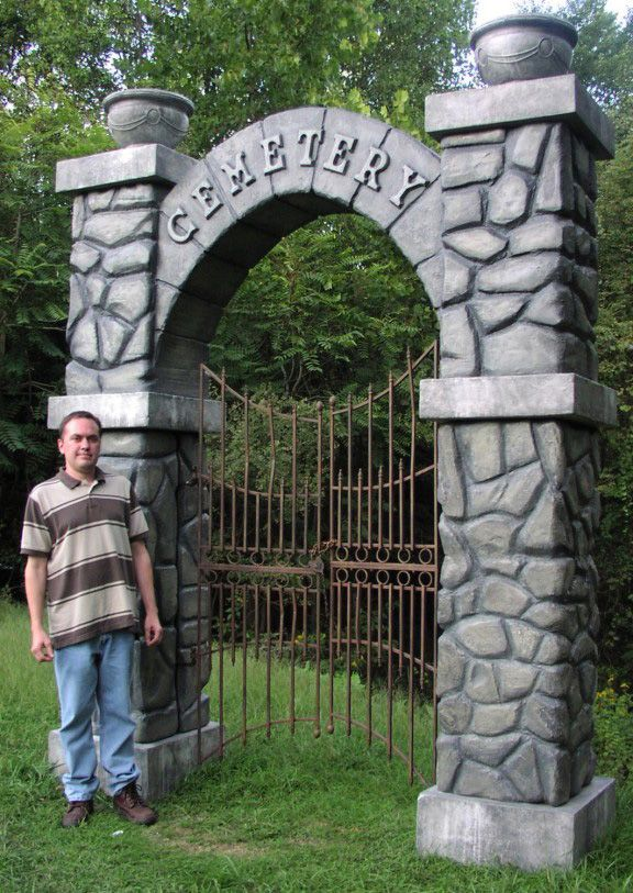 82 best halloween cemetery gates arches and entrances