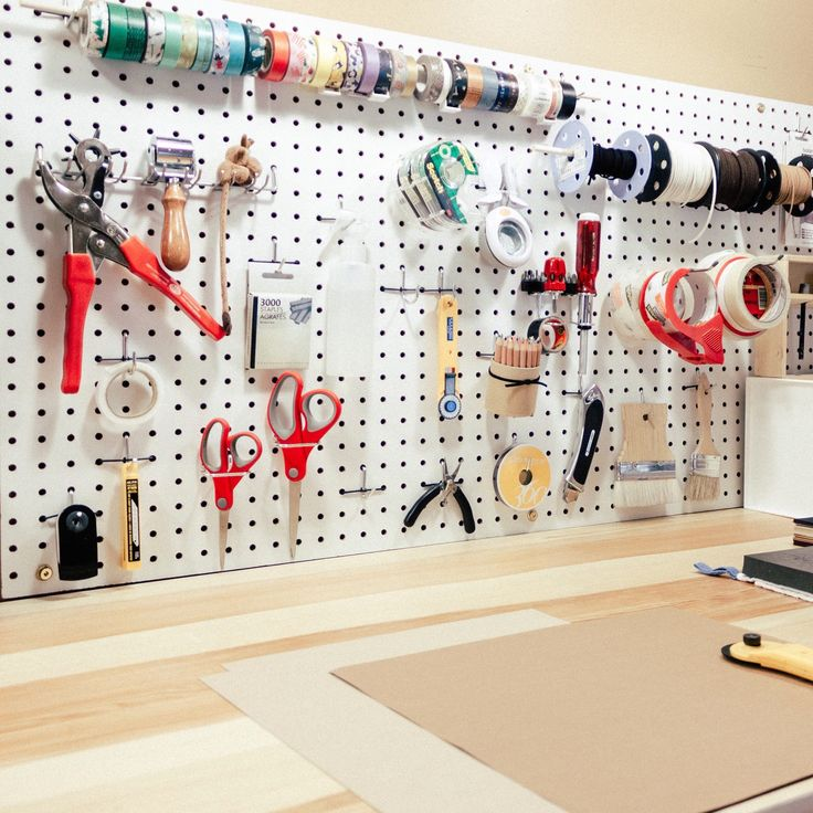 This is one wall of my new studio that I like very much - all tools within easy reach.
