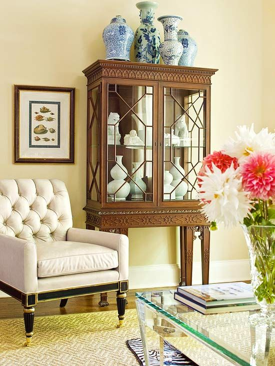 Storage can be beautiful too! Use a gorgeous armoire to save space and still be a stunning piece in your home: http://www.bhg.com/decorating/storage/organization-basics/charming-hardworking-storage/?socsrc=bhgpin011414artfularmoire&page=11