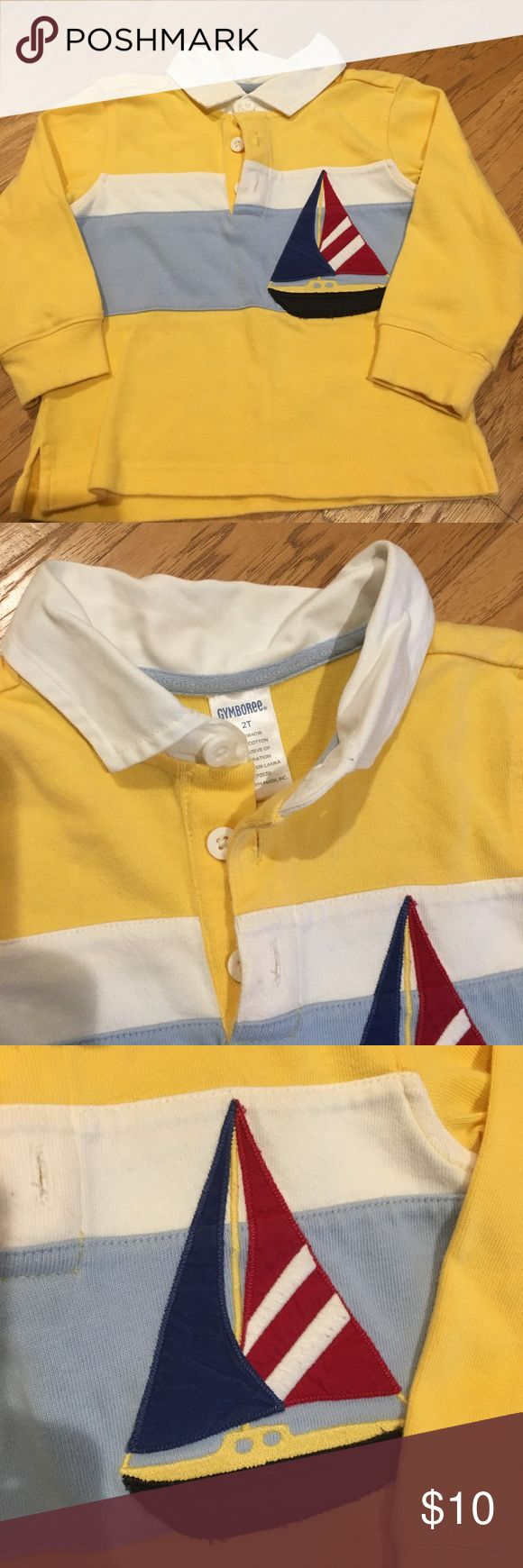 Gymboree sailboat shirt 2T like new!  ⛵️ Gymboree size 2T sailboat shirt. Excellent, like new shirt.  Please check out my closet for other listings for combined shipping!  Comes from a pet and smoke free home. Gymboree Shirts & Tops