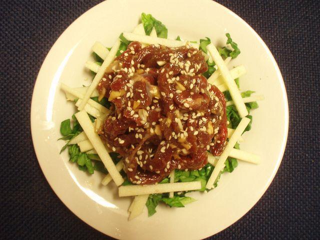 Seasoned raw beef