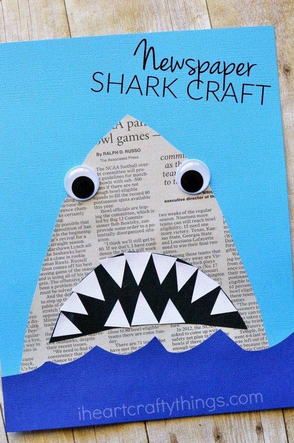 requin en papier journal